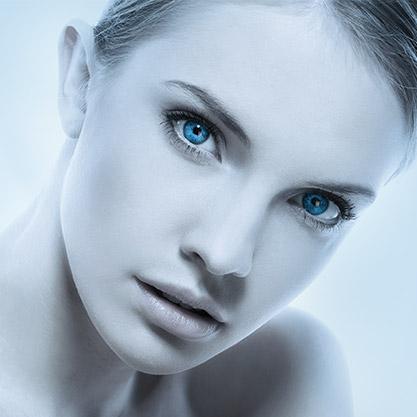 Model's face anti-wrinkle face treatment